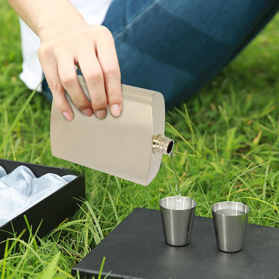 Lightweight Stainless Steel Whiskey Flagon Alcohol Rum Hip Flask for Picnic