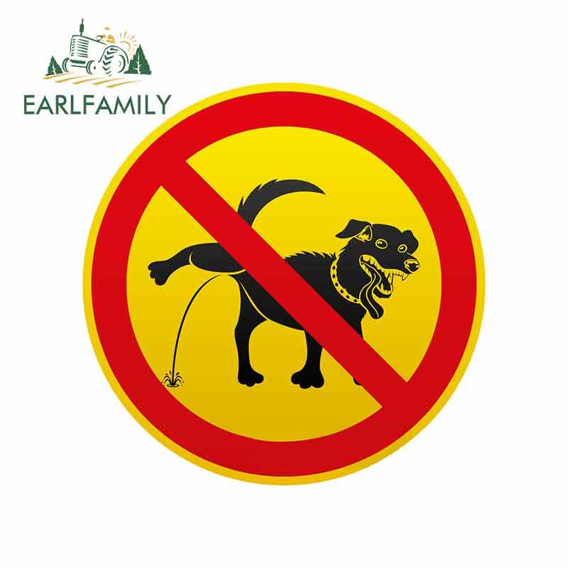 EARLFAMILY 13 см для собаки наклейка запрещена личность креативная наклейка s виниловая Автомобильная наклейка водонепроницаемое украшение авто...