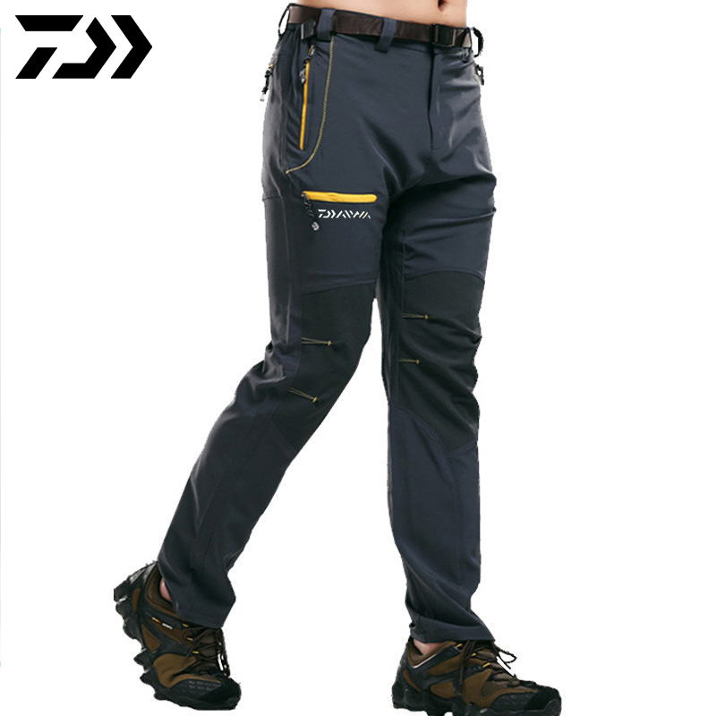 Daiwa Men  Fishing Trouers Breathable Anti-Pilling Anti-Shrink Quick Dry Fishing Pants Outdoor Sports Wear Camping Hiking Pants