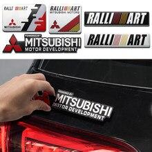 Estilo do carro de alumínio adesivos para mitsubishi outlander lancer x 9 asx 2013 pajero 4 colt 6 galant carisma l200 emblema acessórios