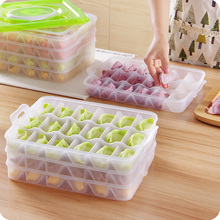 4 layers-5 layers Portable Dumpling storage Box refrigerator Fresh Keeping Container Holder Organizer kitchen accessories