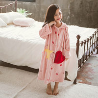 かわいい韓国子供パジャマガールズヴ子供バスローブパジャマ女の子のためのローブバスローブ夜の摩耗暖かい子供バスローブ