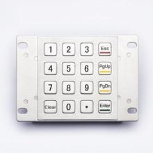 4x4 16 Keys Industrial Custom Usb Atm Metal Keypad Vandalproof Numerical Keyboard