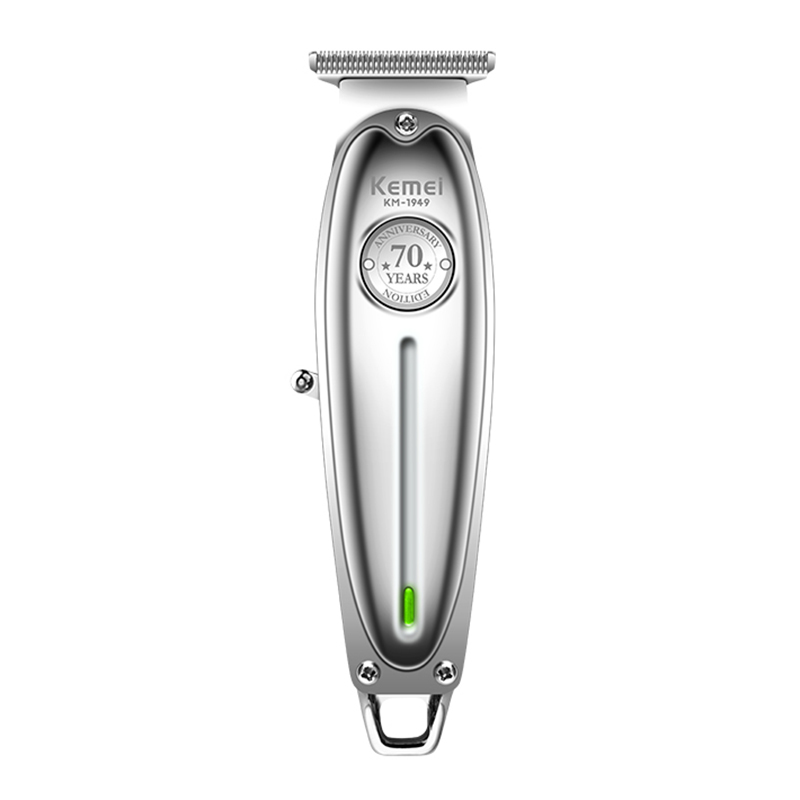 Полностью металлический триммер для волос, профессиональная машинка для стрижки волос, перезаряжаемая Мужская электрическая бритва для бо...