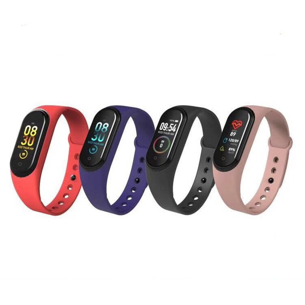 Smart-Bracelet Color-Screen Waterproof M4 True Step Ip67 4-Generation Battery-Over Usb-Line