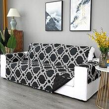 Funda acolchada para sofá, impermeable, Protector para muebles, cojín, funda para sofá de doble cara, dibujo de cuadros Vintage, decoración para sofá D20