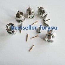 Bnc macho q9 plug rf conector coaxial friso rg316, rg174, lmr100 em linha reta nickelplated novo atacado