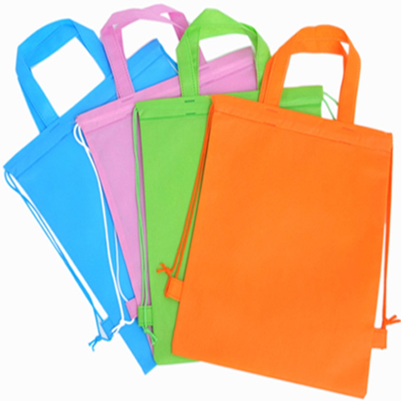 20pcs High Quality Promotion New Arrival Eco String Non-woven Shopping Bag For Drawstring Bags Shopping Bags