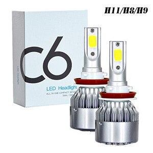 C6 H1 H3 Автомобильный светодиодный фары для H7 светодиодный Автомобильные фары H4 880 H11 HB3 9005 HB4 9006 H13 6000K 72W 12V 7600LM авто фары