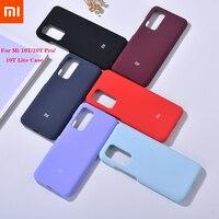 Xiaomi-funda trasera Original para teléfono móvil inteligente, carcasa de silicona líquida, de lujo, a prueba de golpes, para Xiaomi Mi 10T Lite/10T Pro 5G, Redmi K30S