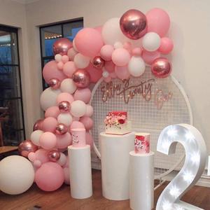 Image 4 - 101 DIY balonlar Garland kemer seti gül altın pembe için beyaz balon bebek duş gelin duş düğün doğum günü partisi süslemeleri
