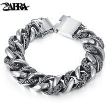 Мужской винтажный браслет zabra из серебра 925 пробы с растительным