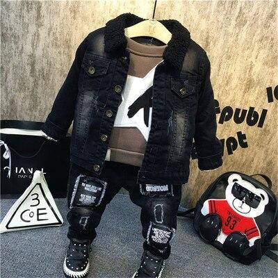 子供の服セット2 3 4 5 6 7歳の赤ちゃんジャージ2019秋冬新幼児のベルベットジャケットキッズボーイ3個セット
