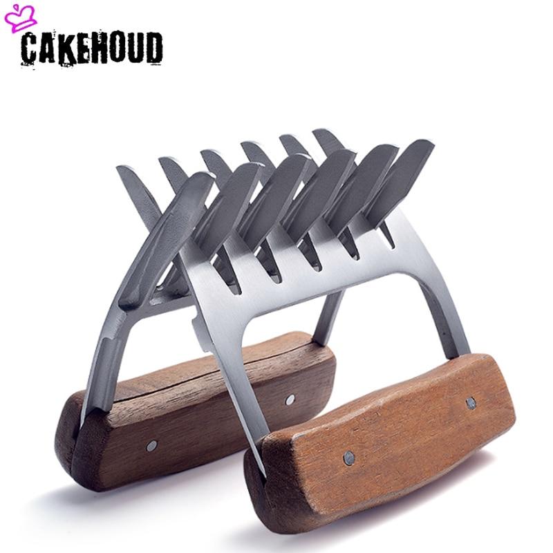 CAKEHOUD nouveau ours griffe Barbecue fourchette pince acier inoxydable utile viande processeur Barbecue outil multi-fonction viande décapant