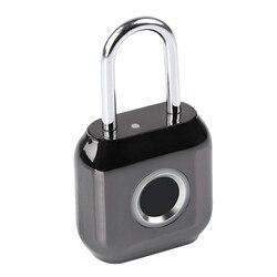 Inteligentny odcisk palca mały USB ładowanie blokada z użyciem linii papilarnych elektroniczna sypialnia inteligentna kłódka