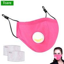 Tcare – masque anti-poussière de sécurité, avec filtres 2 PM 2.5, masque facial facile à respirer, lavable, anti-Pollen et anti-allergie