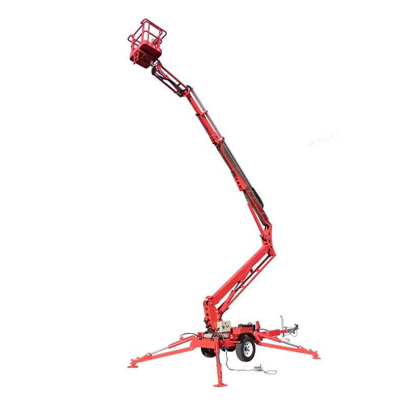 14 м гидравлическая воздушная Рабочая платформа манипулятором подъема стрелы для продажи