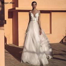 Блестящие Свадебные платья в стиле бохо magic awn с 3d аппликацией