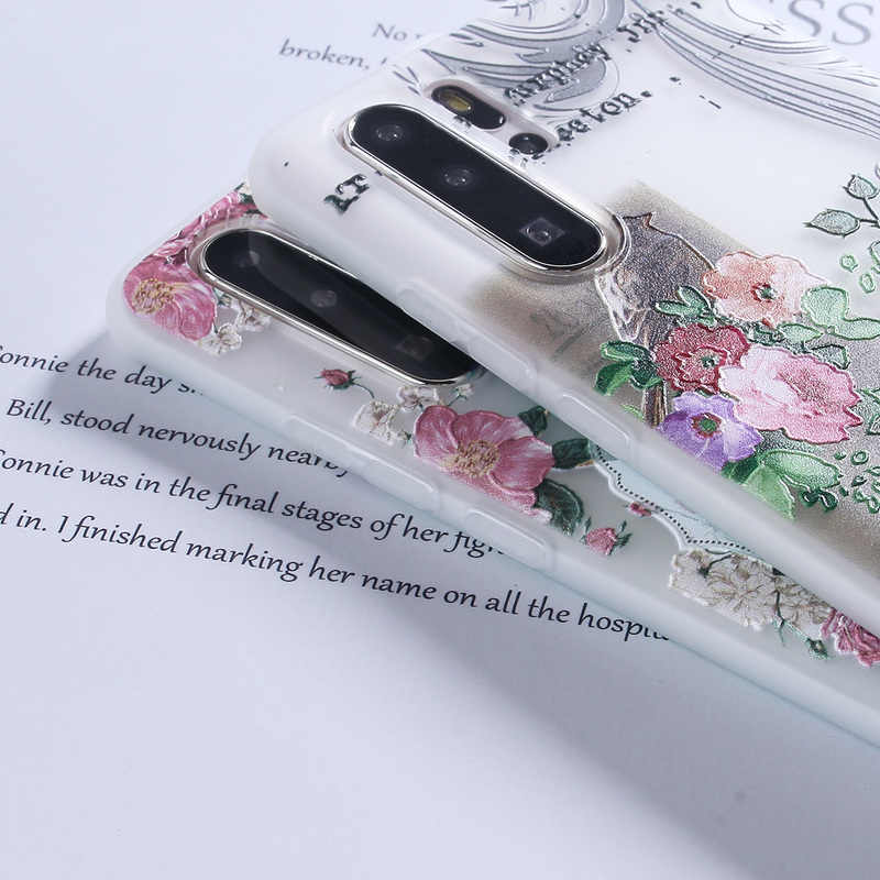 Silicone Case For Huawei P20 P30 Lite P10 P9 P8 Mate10 20 Pro Lite Y7 Y9 2019 Plus Honor 7X 9 10 Lite 3D Relief TPU Case Cover