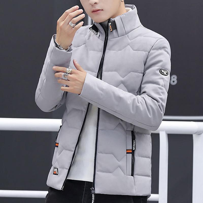 2021 New Winter Coat Men Thicken Casual Parka Slim Fit Outwear Waterproof Warm Stand Collar Outwear Coat