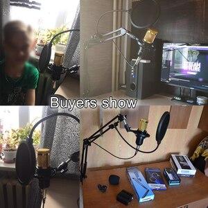 Image 5 - Bm 800 8 Colori Microfono A Condensatore BM800 Mikrofon KTV Bm 800 Mic Con Shock Mount Per La Radio Studio Microfono Professionale