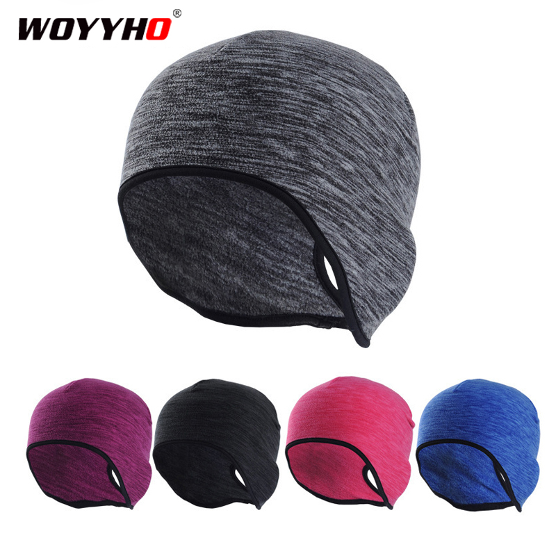 UK Cycling Cap Winter Warm Fleece Thermal Running Riding Hat Windproof Outdoor