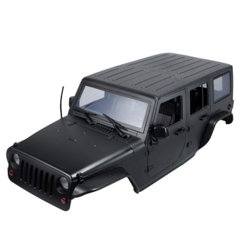 Unassembled 12.3Inch 31m Wheelbase Body Car Shell for 1/10 RC Crawler Jeep Wrangler Axial SCX10 & SCX10 II 90046 90047,Black 2019 new car body cab with back half cage for 1 10 rc crawler trx4 axial scx10 90046 car shell