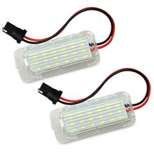 купить 2pcs Error Free LED Number License Plate Light Lamp For Ford Focus 5D Fiesta Mondeo MK4 C-Max MK2 S-Max Kuga Galaxy 6000k White дешево