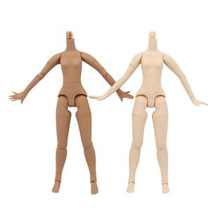 Image 1 - blyth doll icy toy body small chest joint body azone body white skin dark skin natural skin for DIY custom doll