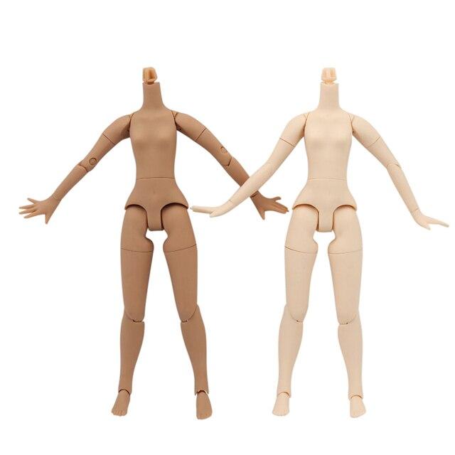 blyth doll icy toy body small chest joint body azone body white skin dark skin natural skin for DIY custom doll