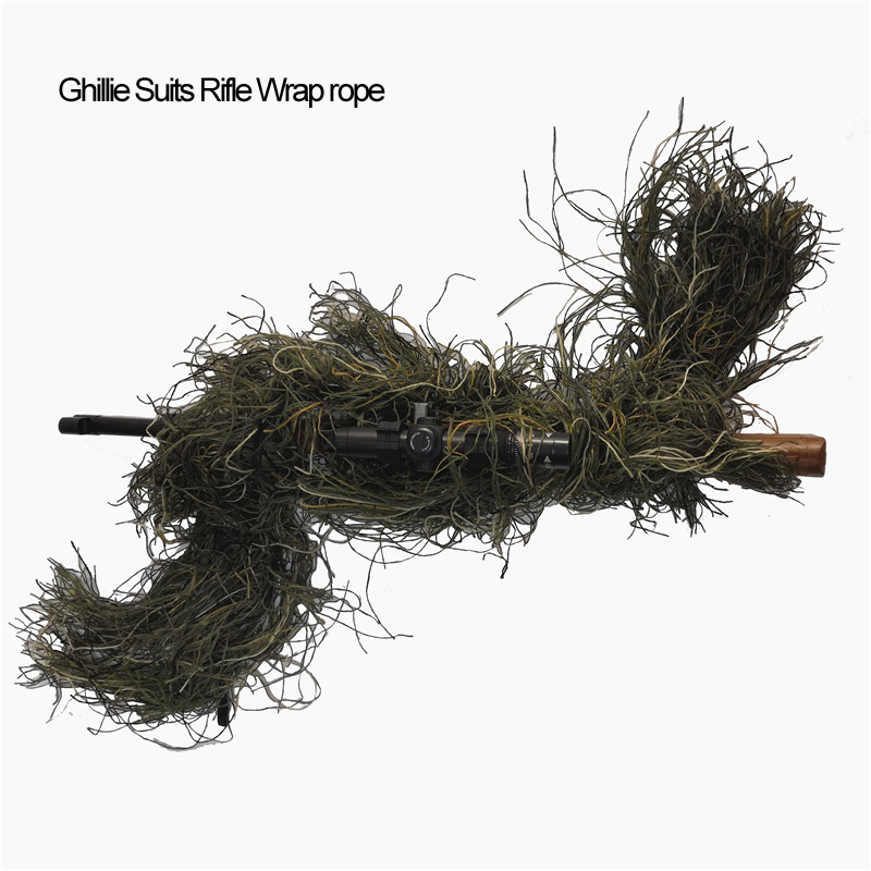 Hunting Rifle Wrap rope grass type Ghillie Suits Gun stuff Cover For camouflage Yowie Sniper Paintball hunting clothing thicker