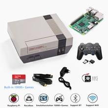 Retroflag console de vídeo game nespi + raspberry pi 3b, com suporte para saída hdmi, pre instalação e multiinstalação recalbox de idiomas e jogos