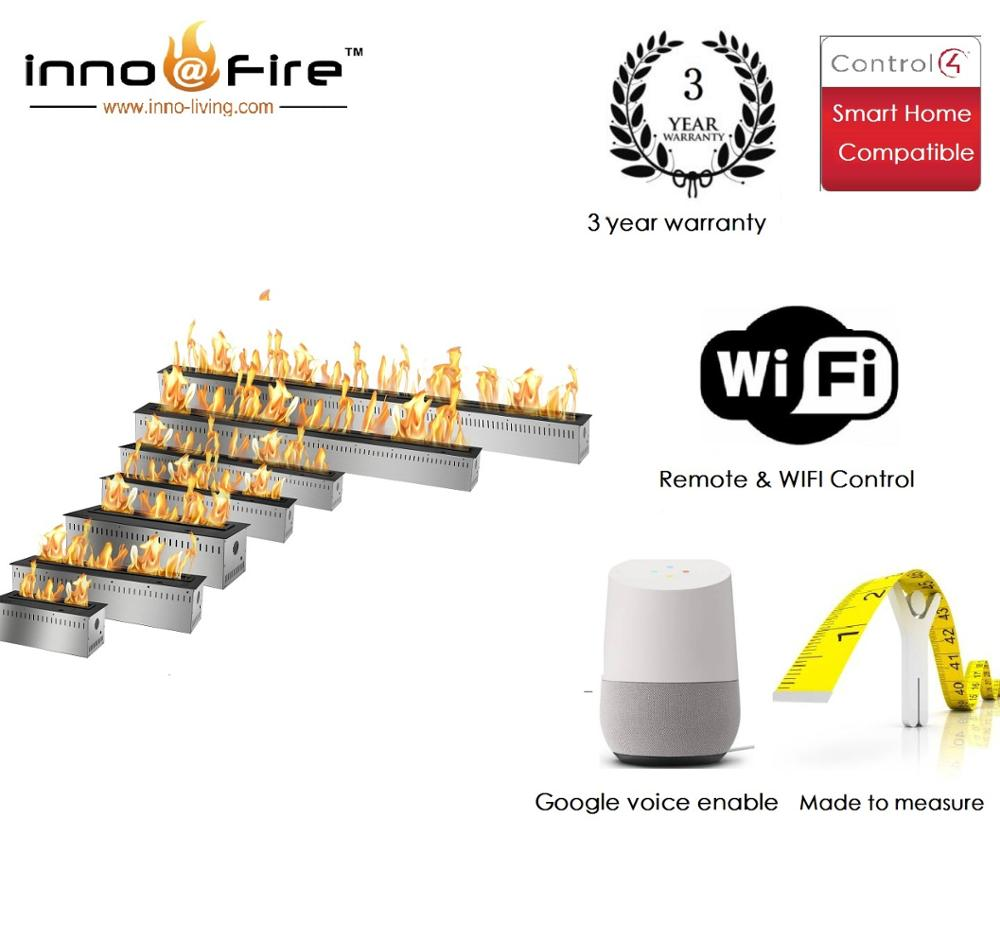Inno Livinfg Fire 48 Inch Luxury Electric Fireplace Bio Ethanol Fuel