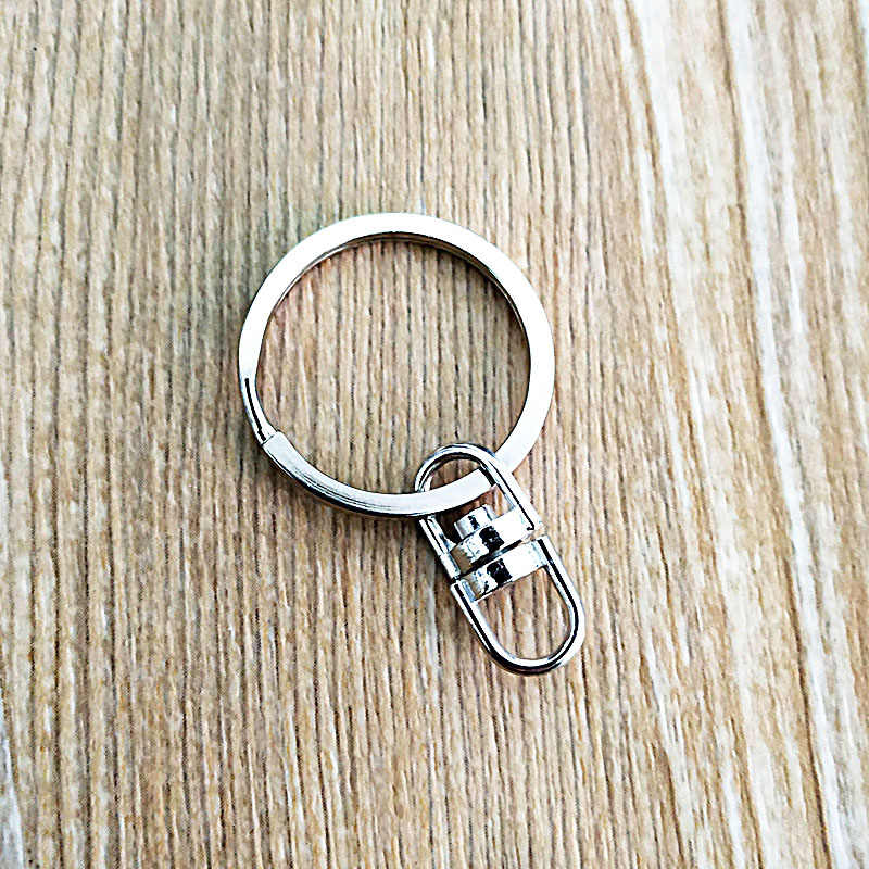 Metal keychain 25mm 8 forma 360 rotação do anel chave de aço inoxidável acessórios Feitos À Mão do produto ao ar livre