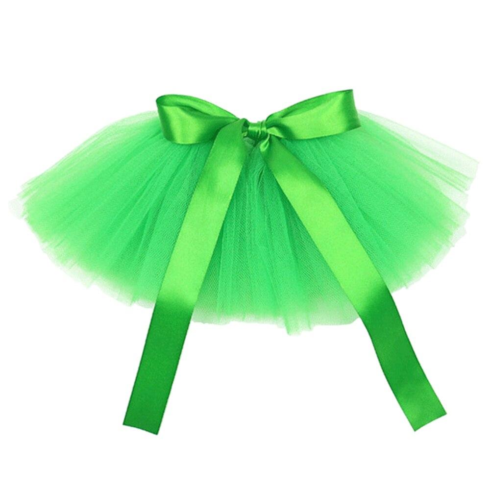 1pc Festival Dog Skirt St. Patrick's Day Gauze Skirt Pet Skirt Dog Dress (Green)
