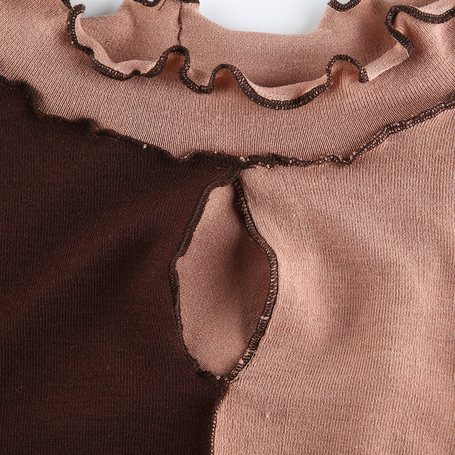 Cut Out T-Shirts in brown