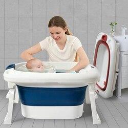 New Design Children Bathing Tub Plastic Foldable Baby Bathtub