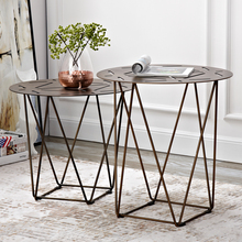 Lok древний приставной столик металлический комбинированный чайный столик промышленный стиль приставной столик для гостиной
