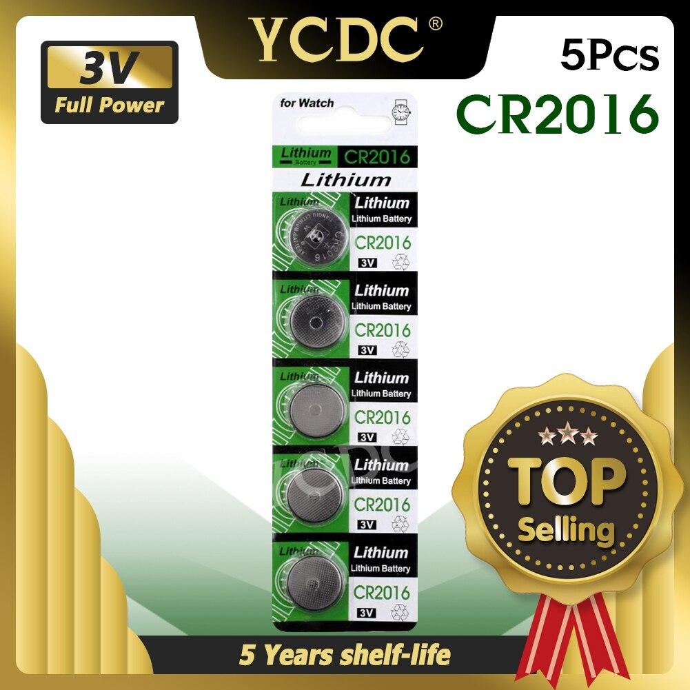 CR2016 5 шт./упак. аккумулятора кнопочного типа LM2016 BR2016 DL2016 ячейки литий Батарея 3V CR 2016 для мобильного часо-Электронная игрушка пульт дистанцион...