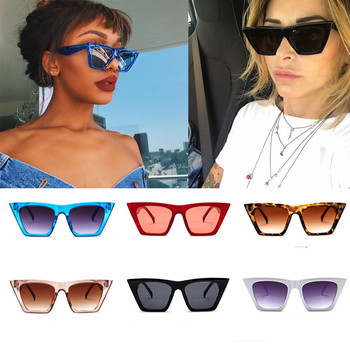 top selling product in 2020 Fashion Women Ladies Oversized Sunglasses Vintage Retro Cat Eye Sun Glasses Support Wholesale image