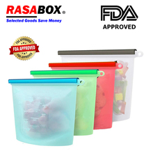 RASABOX - Food Storage & Organization Sets, Reusable Silicone Bags, Freezer for Snack Lunch Sandwich Sous Vide