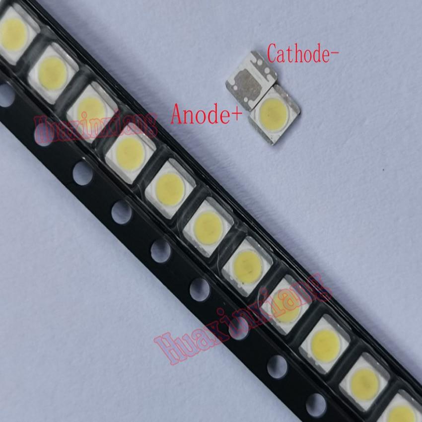 500 шт./лот, 1 Вт 2835 3 в SMD LED холодный белый для LG Innotek TV/LCD подсветка приложения