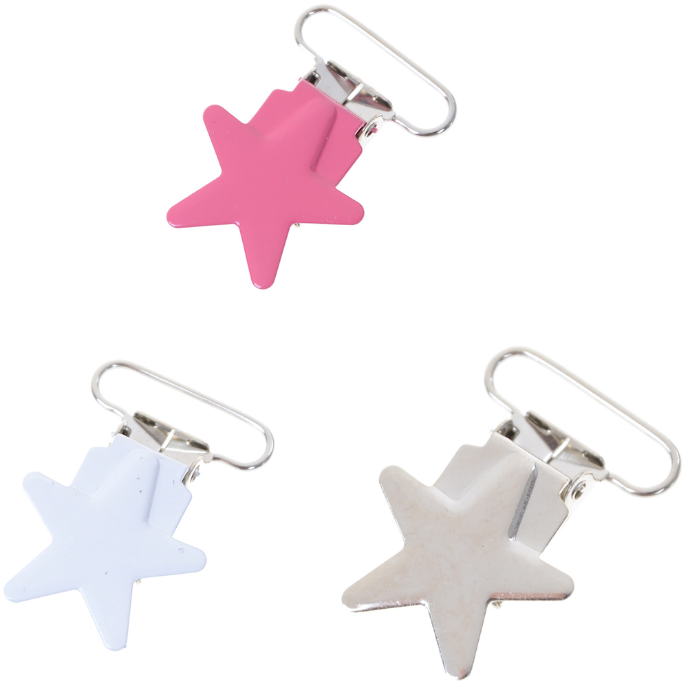 5pcs/lot Baby Pacifier Clip Soother Teether Star Shape Safe Holder Saliva Towel Support Anti Fall Cute Clips Newborn Infant Feed