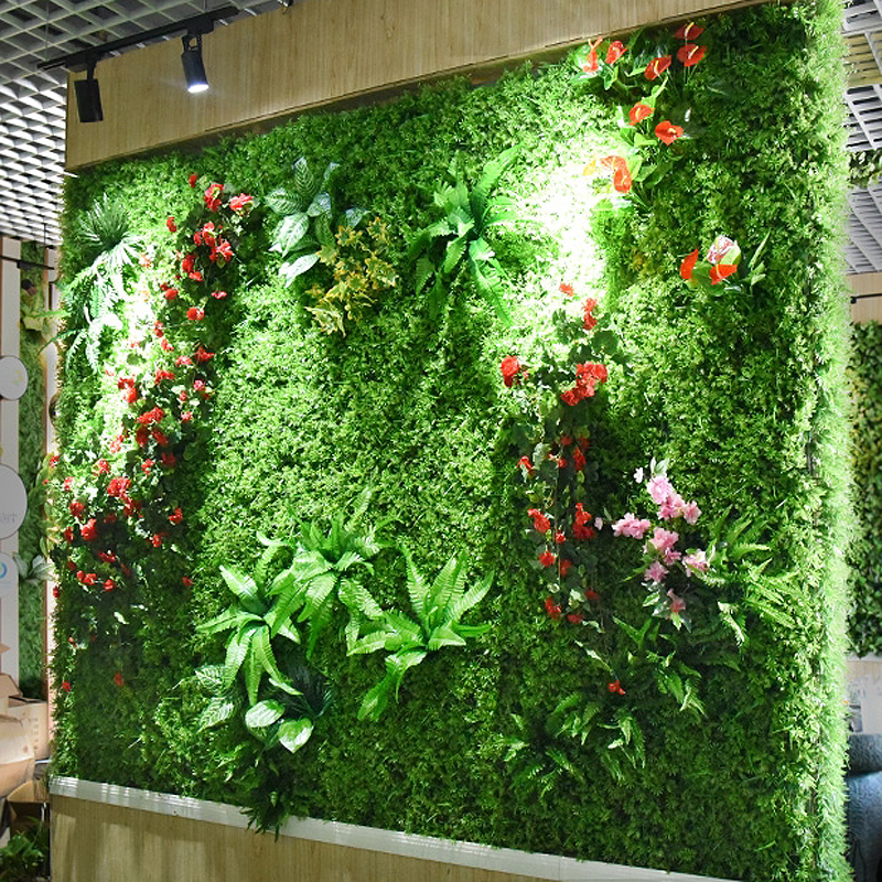 Lawn Leaves Green 2mx1 DIY Wall Tropical Decoration Plastic 2m Artificial Panels Flower Wall Accessories Plant Wedding Home