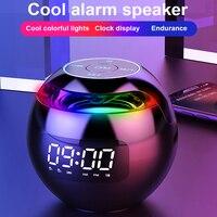 Mini Altavoz Bluetooth inalámbrico, caja de sonido con alarma con pantalla LED, reloj, Hifi, tarjeta TF, MP3, reproducción de música