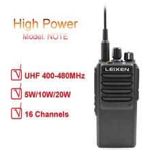 LEIXEN Note высокомощная 20 Вт УВЧ 400 480 МГц FM Любительское радио двухстороннее Радио рация на большие расстояния черный трансивер Внутреннее переговорное устройство