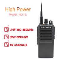 LEIXEN Note High Power 20W UHF 400-480MHz FM Ham Radio Two Way Radio Long-Distance Walkie Talkie Black Transeiver Interphone