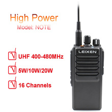 Leixen 참고 높은 전력 20 w uhf 400 480 mhz fm 햄 라디오 양방향 라디오 장거리 워키 토키 블랙 transeiver 인터폰