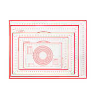 Estera de silicona con escala para amasar, para amasar esterilla, almohadilla de hoja antiadherente para hornear, galletas, postres, herramienta de decoración para hornear, 60/80cm