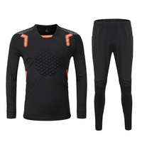 2019 Men Kids Soccer Goalkeeper Set Survetement Football Training SuitS Boys Sponge Protection Goalkeeper Jersey Kit Uniform DIY